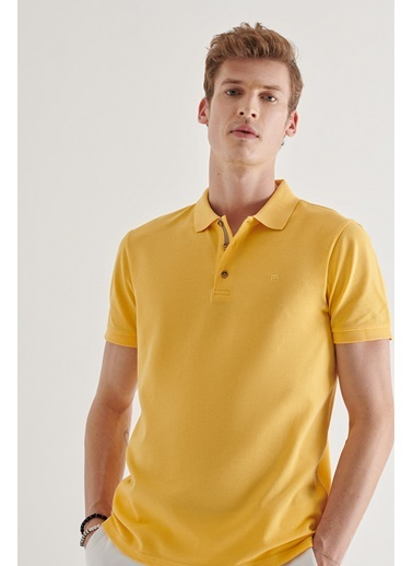 Avva Erkek  Polo Tişört A11B1174 Sarı